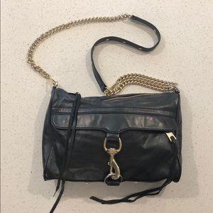 Rebecca Minkoff MAC black & gold purse
